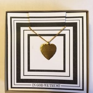 f92c292bb9eaa9 In God We Trust Jewelry | Igwt Boring Heart 18 Necklace | Poshmark